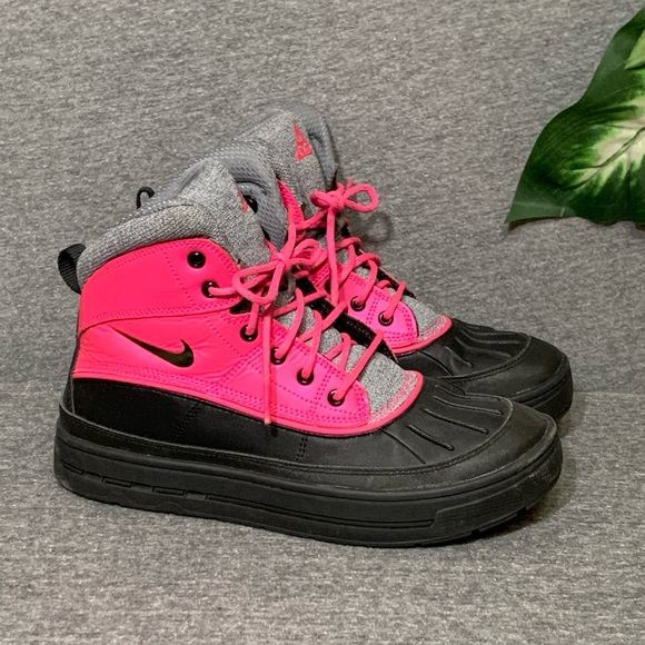 pink and black acg boots